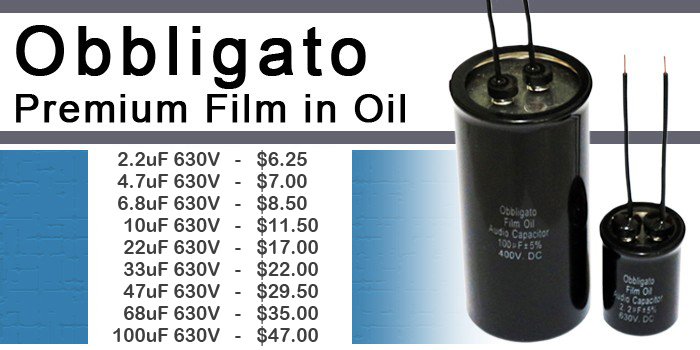 Obbligato Film Oil Capacitors