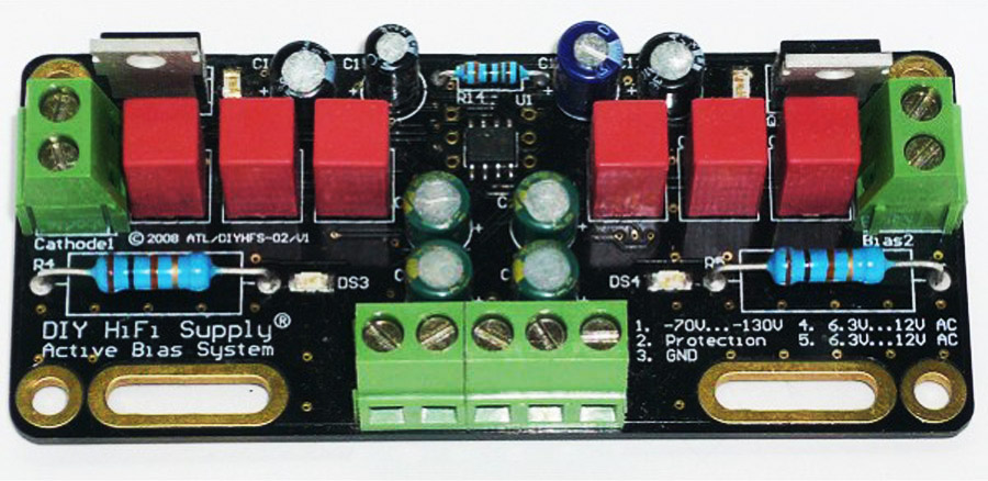 DIYHS Active Bias Supply Module (Single pcb to Control 2 Power Tubes)